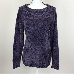 Croft & Barrow Purple Chenille Sweater